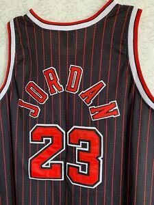 Chicago Bulls Michael Jordan #23 NBA 1984 Nike Flight 8403 Black Red Jersey 54