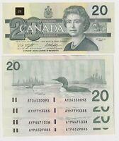 Canada $20 (1991) BC-58d-i -  XF/aUNC ** Prefixes AYD/AYM/AYP ** ✹DB L41✹