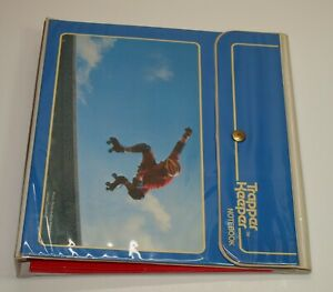 Vintage Mead TRAPPER KEEPER Notebook Binder w/ FOLDERS Snap Closure Rollerskater