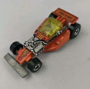 Vintage Mattel Hot Wheels 1981 Orange Land Lord Race Car Black Wall