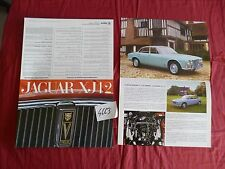 N°4663 / JAGUAR : dépliant berline XJ 12  texte français    1972