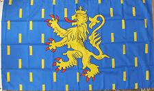 Franche-Comté France Flag 5x3 French Region Francais Lion Heraldic Medieval bn