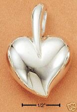 Sterling Silver Contemporary Heart 25 mm