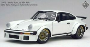 EXOTO 1/18 Scale Porsche 934 RSR Works Prototype White RLG18090 w/Original Box