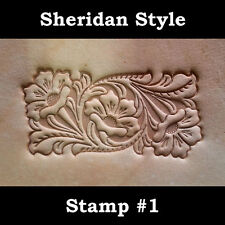 SHERIDAN STYLE LeatherCraft Embossing Plate. Stamping Veg Tan Tooling Leather #1