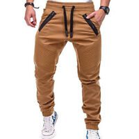 hommes Jogger vêtements de sport SLIM MOULANT décontracté pantalon sarouel