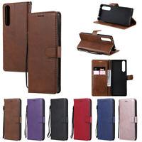 Book Slim Wallet Leather Flip Case Cover For Sony L4 1 II 10 L3 XA2 XZ1 XZ2 XZ3