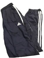 Vintage Adidas Team True To The Athlete Blue White Lined Wind Pants Women S