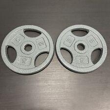 "5lb x2 Standard 1"" Weight Plates Cap Cast Iron (10lbs Total) New"