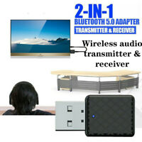 Bluetooth5.0 Receiver Transmitter Adapter 3.5 Audio Cable For TV/PC Headphone