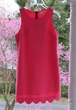 Manteau Los Angeles sz Small Pink Sleeveless Dress Scalloped Hem, Built-in Slip