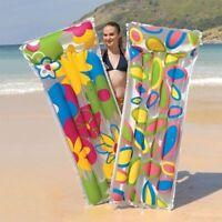 Colourful Print Inflatable Air Mattress Swimming Pool Raft Mat Float Pool Swim