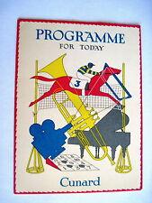 Delightful Cunard Cruise Ship Programme Souvenir w/ Race Horse, Trumpet  Piano *