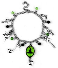 Broadway Musical Wicked Defy Gravity Silvertone Charm Bracelet
