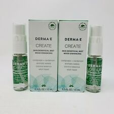 2x DERMA E CREATE Mood Enhancing Skin Beneficial Mist Spray 15ml/0.5oz Each NIB