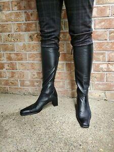 Stuart Weitzman High Heel Boots Soft black leather - size 9.5AA
