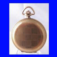 WW1 Mint 14k Gold  Zenith 15J Hi-Grade Deco Hunter Officers Pocket Watch 1914