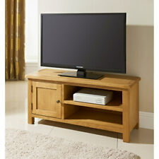 Wiltshire Wide TV Table With 1 Cupboard & 2 Shelves For Extra Storage