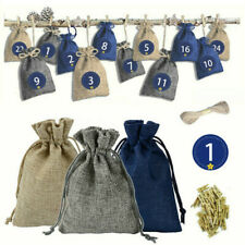 🌟 Advent Christmas Calendar XMAS Gift Bag Storage Pouch Drawstring Bottle Bags