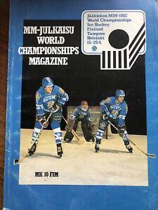 World ice hockey championship 1982 programme