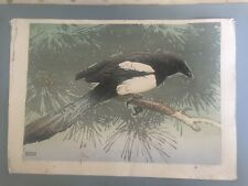A W Seaby Signed And Numbered Original Woodcut Bird Print
