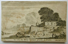 Israel Silvestre Bons hommes proche Radierung auf Bütten 1650 Faucheux 20/11
