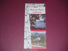 1954 National Parks of Canada Brochure Pamphlet