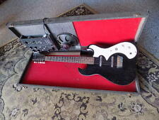 1960s Silvertone Model 1449 Amp in Case electric guitar BLACK SPARKLE jensen USA