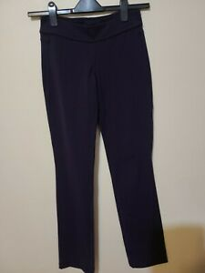 Lululemon Women's Navy Straight Legs Back Pockets Yoga Pants Size 6