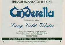CINDERELLA Long Cold Winter UK magazine ADVERT / mini Poster 8x6 inches