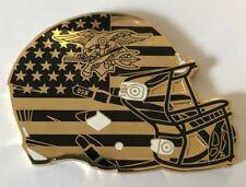 USN US Navy Seal UCLA Football Helmet Shaped Trident & Frog Coin #015 & #044