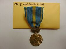 GENUINE FULL SIZE MILITARY MEDAL OLDER REPUBLIC OF FRANCE MEDAILLE COM DE ORIENT