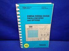 TEKTRONIX 2465A/2455A/2445A OSCILLOSCOPES and OPTIONS OPERATORS MANUAL