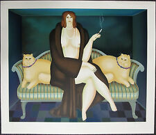 IGOR GALANIN, Original Serigraph, After Dinner, Signed Numbered