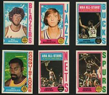 1974-75 Topps Basketball Cards U- Pick singles $2 ea. #1-264 FREE SHIPPING !