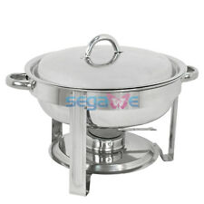 Chafing Dish Chafer with Lid 5-QT, 5 quart Stainless Steel Cook and Home Round