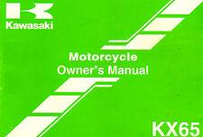 2004 KAWASAKI KX65 MINI MOTOCROSS MOTORCYCLE OWNERS MANUAL -KX 65-KX65A5