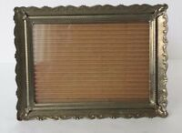Decorative Metal Rectangle Picture Frame Gold Toned 5 x 7