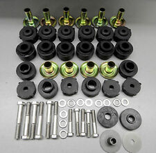 NEW JEEP WRANGLER YJ BODY MOUNT KIT W/BUSHINGS,TUBE WASHERS & S/S BOLTS-'87-'95