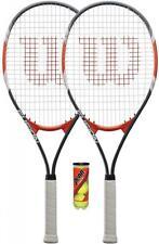 2 x Wilson Fusion XL Tennis Rackets + 3 Balls RRP £90