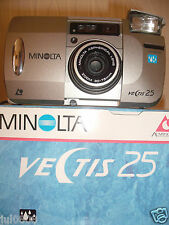 BXD MINOLTA VECTIS 25 IX-DATE APS FILM CAMERA WITH 30-75MM ASPHERICAL LENS NN14