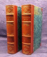 Freiligraths Werke 6 Teile in 2 Bänden Halbleder- Handeinband 1909 Literatur js