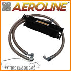MGB 1967-1975 Aeroline Black 15 Row Oil Cooler With Stainless Steel Hoses