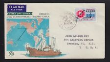 Australia 1963 Commonwelath Pacific Cable First Day Cover Fdc To Trenton Usa