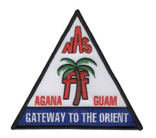 "5"" Navy Nas Agana Guam Gateway To The Orient Embroidered Patch"