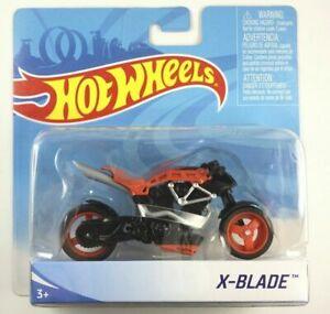 New Hot Wheels X-BLADE ( RED ) Street Power MOTO Motorcycle Bike 1:18 X7723