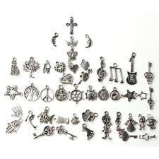 Wholesale 100pcs Bulk Lots Tibetan Silver Mix Charm Pendant Beads Jewelry DIY