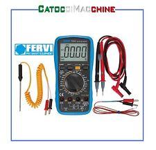 Tester Multimetro Digitale professionale Fervi T053 Sonda Temperatura