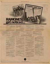 Ramones LP advert 1977 RS-DUNE