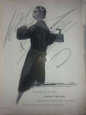 1955 Lord Taylor Monte Sano Cavier Wool Coat France Original Ad